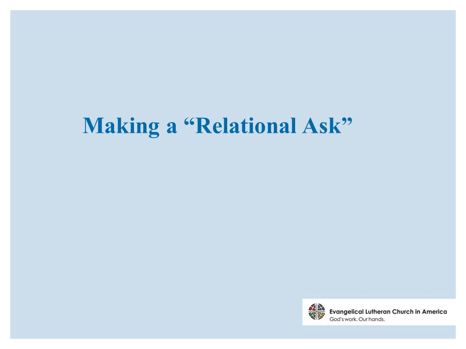 Making a Relational Ask