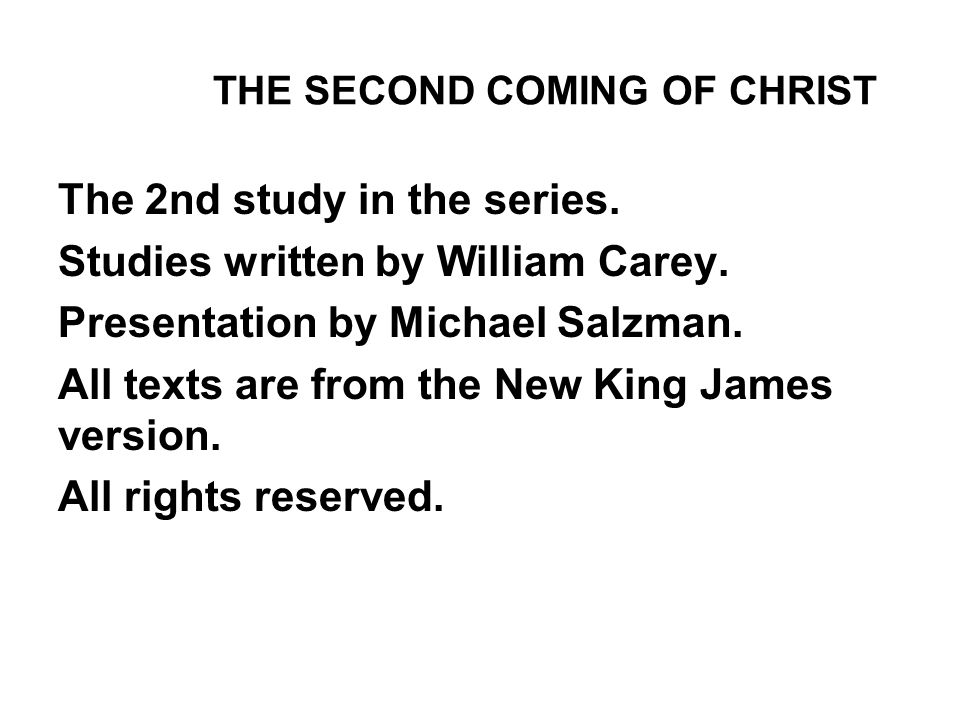 The 2nd study in the series. Studies written by William Carey.