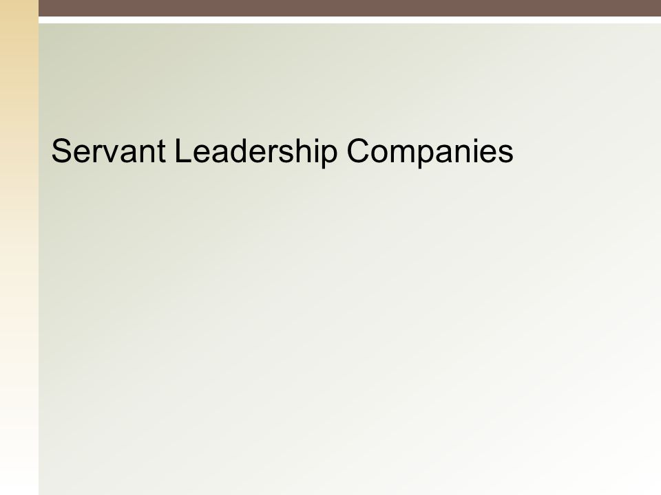 Servant Leadership Companies