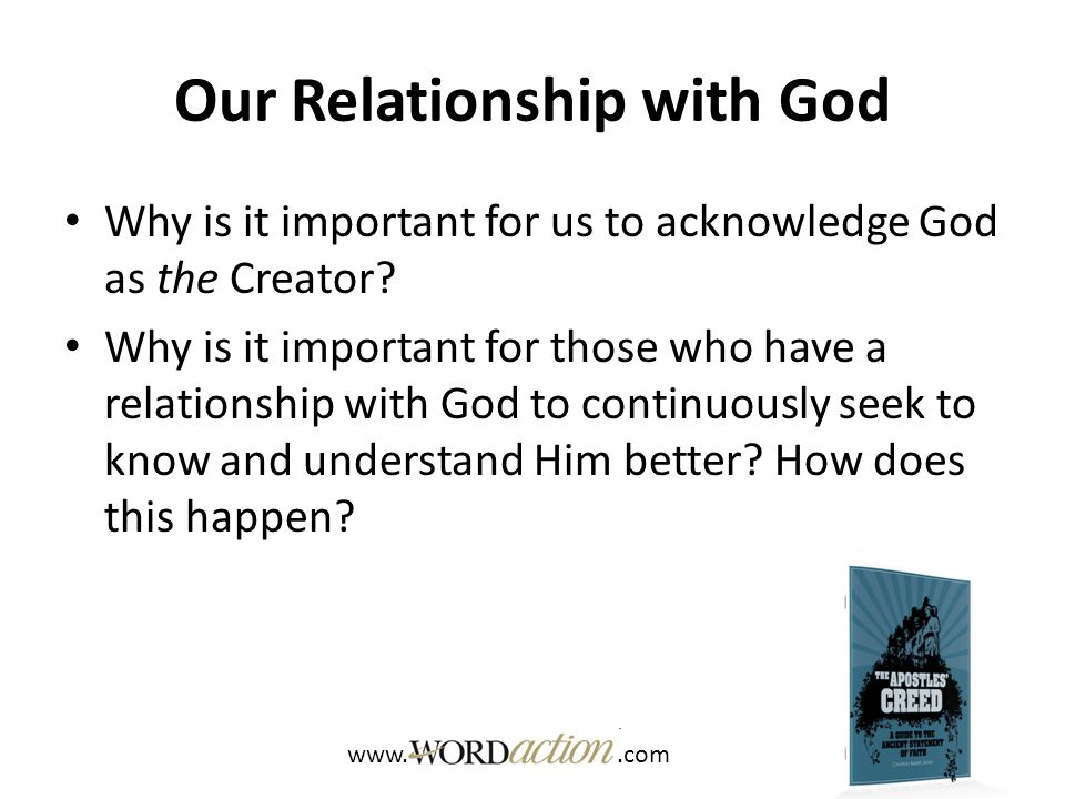 Our Relationship with God How does Psalm 105:1-4 demonstrate the importance of seeking God.