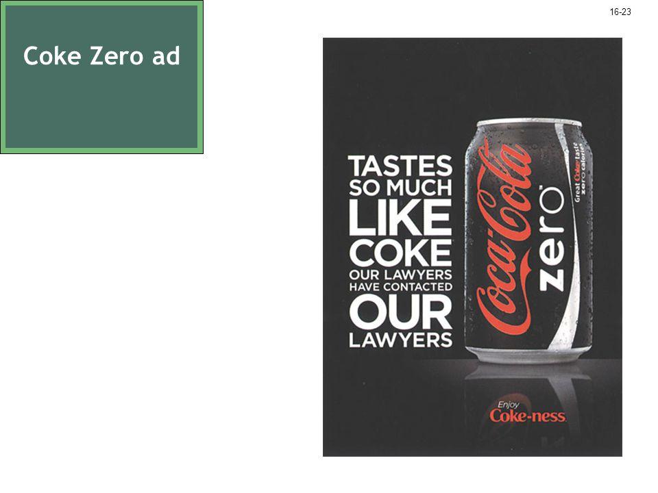 Coke Zero ad 16-23