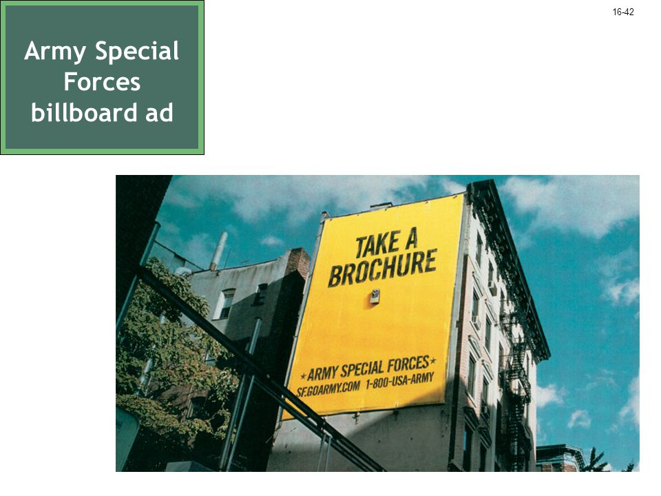 Army Special Forces billboard ad 16-42