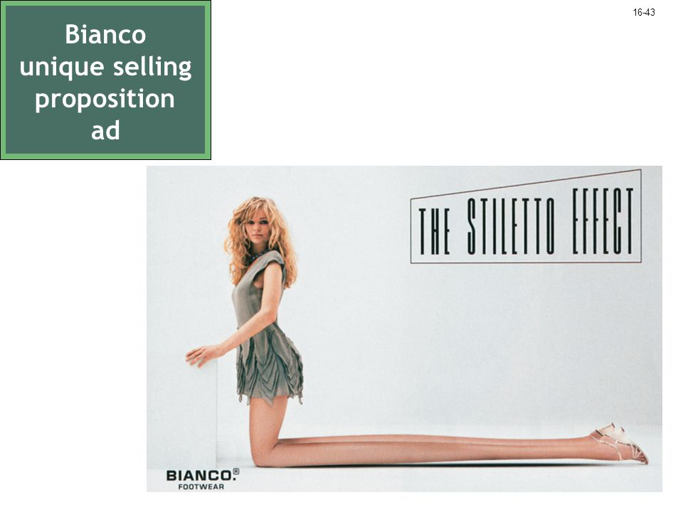 Bianco unique selling proposition ad 16-43