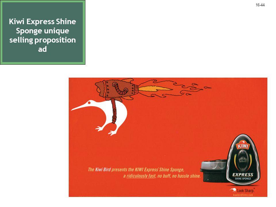 Kiwi Express Shine Sponge unique selling proposition ad 16-44