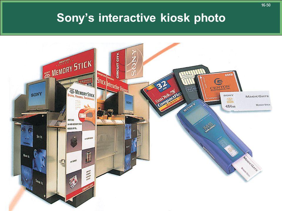 Sony's interactive kiosk photo 16-50