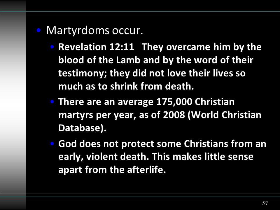 Martyrdoms occur.