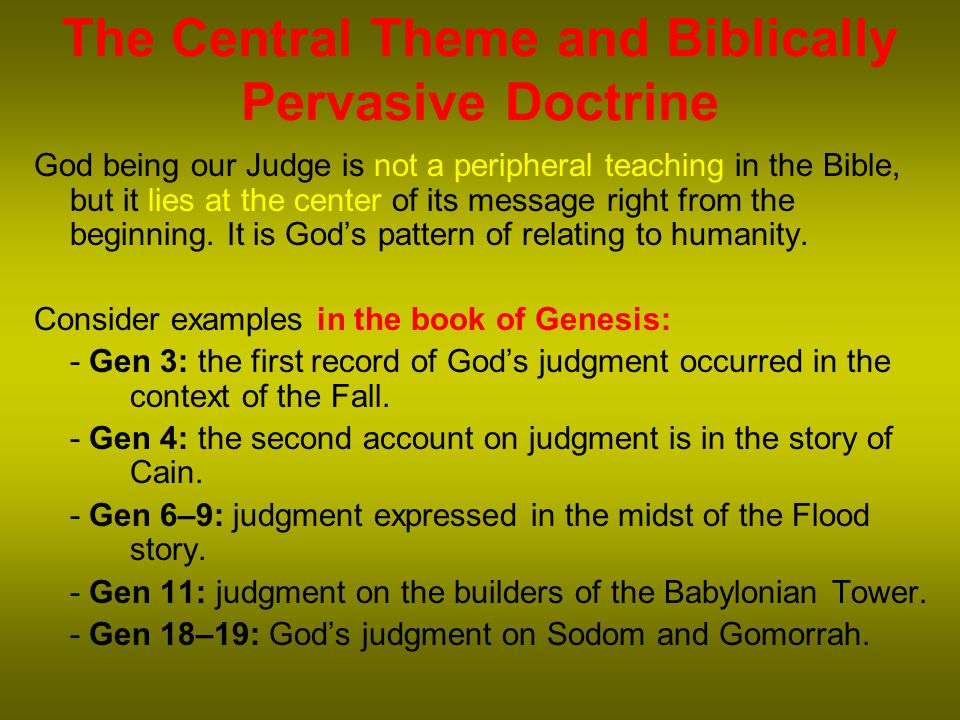 Crucial Difference There is a difference between the eschatological (end-time) judgment and the pre-advent judgment.