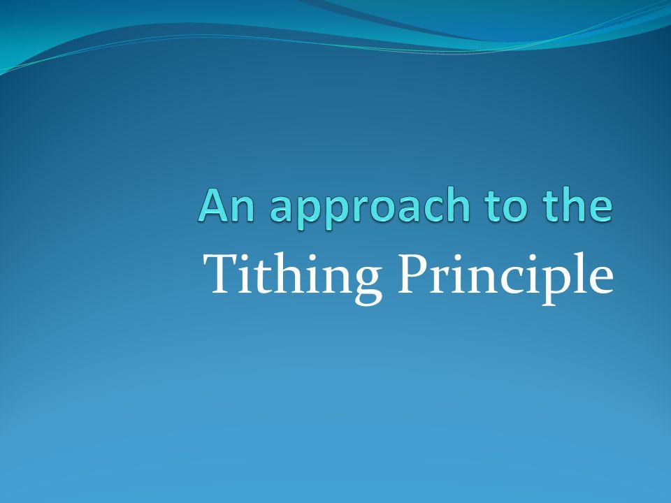 Tithing Principle