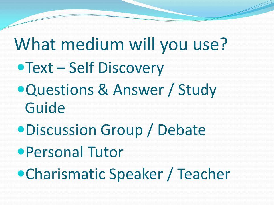 Which teaching approach.