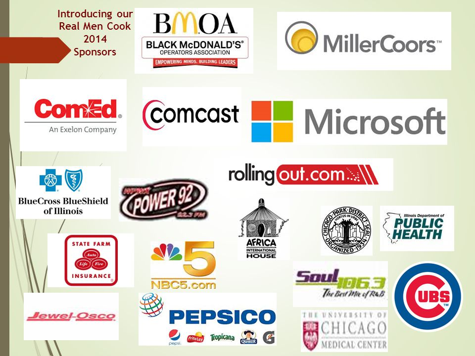 Introducing our Real Men Cook 2014 Sponsors