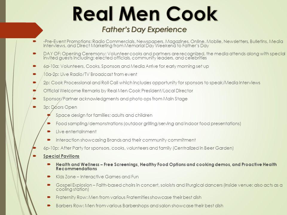 Real Men Cook Family, Food & Fun