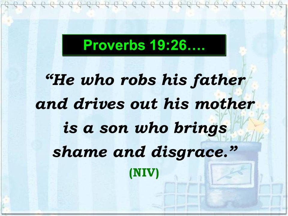 Proverbs 19:26…. Proverbs 19:26….