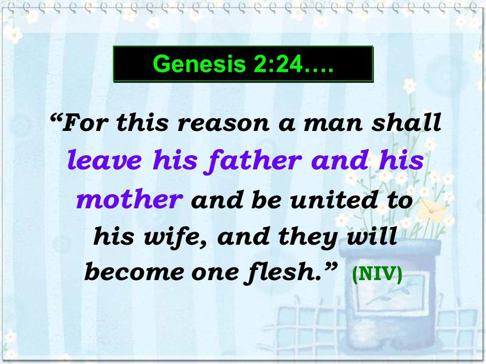 Genesis 2:24…. Genesis 2:24….