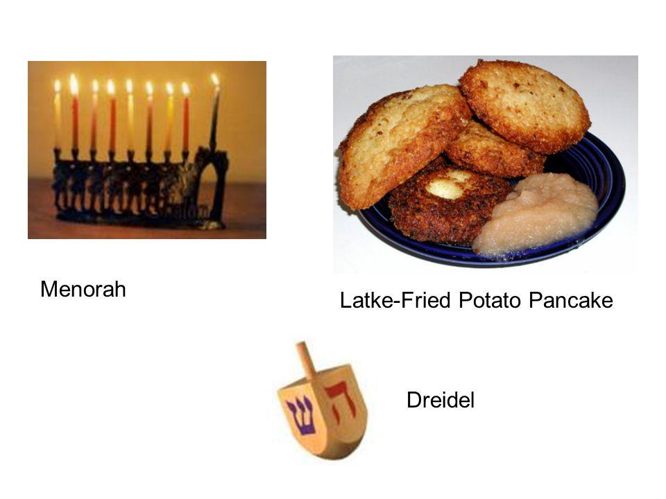 Menorah Latke-Fried Potato Pancake Dreidel