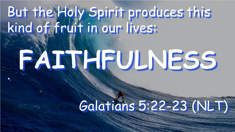 But the Holy Spirit produces this kind of fruit in our lives:.