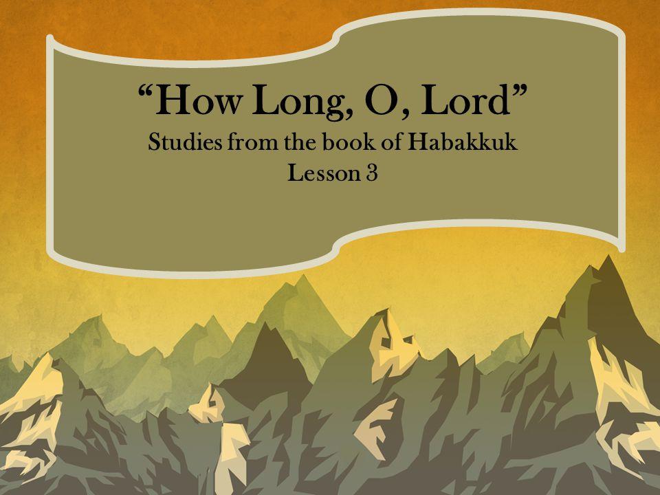 Habakkuk 3:1-2 A prayer of Habakkuk the prophet, according to Shigionoth.