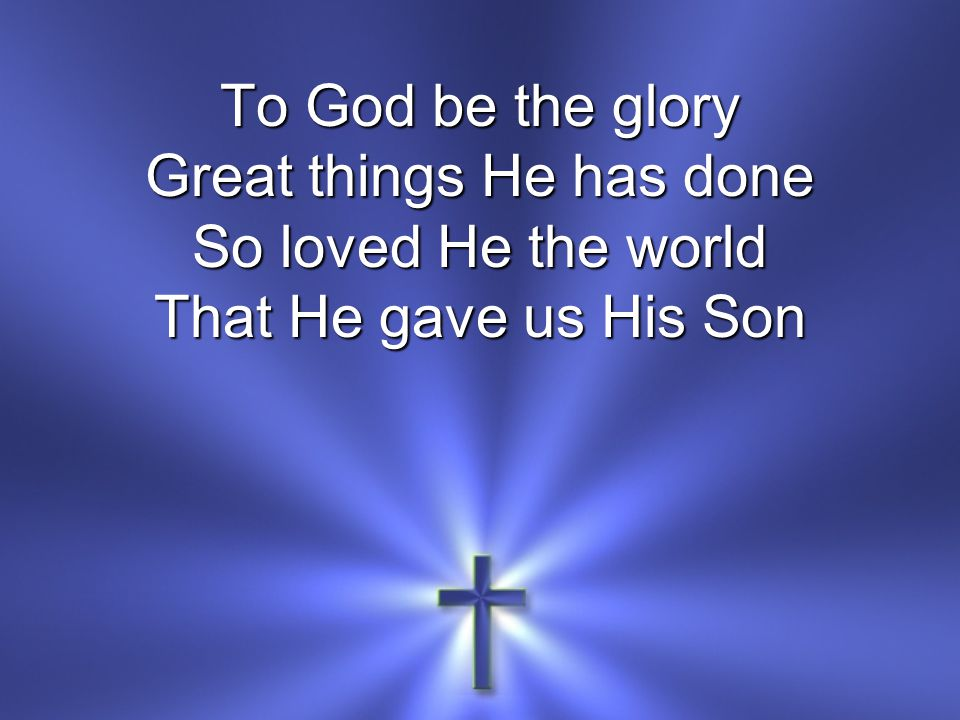 Who yielded His life An atonement for sin And opened the lifegate That all may go in