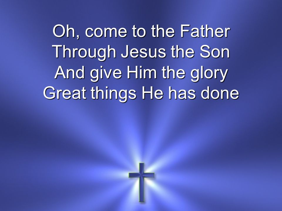 O perfect redemption The purchase of blood To every believer The promise of God