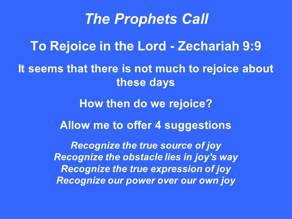 The Prophets Call To Wait for the Lord - Zephaniah 3:8-9 Impatience in our relationship with God leads to several avenues of spiritual distress We cease to pray We become missing from worship We no longer know the Word of God We seek relationships everywhere, but with God The disappointments of this life cause us to wait for the Lord