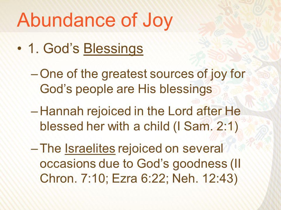 Abundance of Joy 7.
