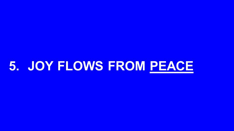 5.JOY FLOWS FROM PEACE