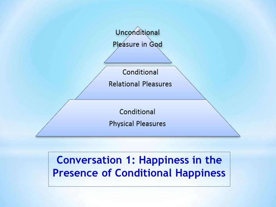 Conversation 1: Happiness in the Presence of Conditional Happiness