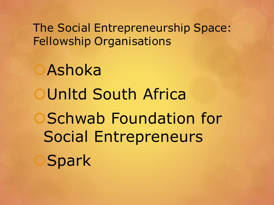 Defining Social Entrepreneurship: Quote from interviews  So the big issue here is that we are facing a cross roads moment where social business became a big buzz word in South Africa, and it is on everyone's lips, In a way, people think that it is a substitute for social entrepreneurship in the sense that I can develop my NGO as a social business because I sell something for a service that will generate the funds that I will reinvest into my social NGO so it is a for profit but my profits go into the NGO so it's a business but its purpose is social.