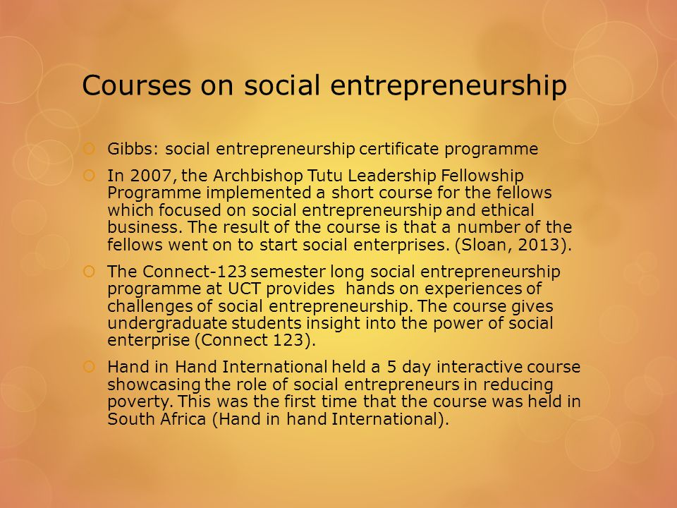 Prevailing definitions of social entrepreneurship in South Africa