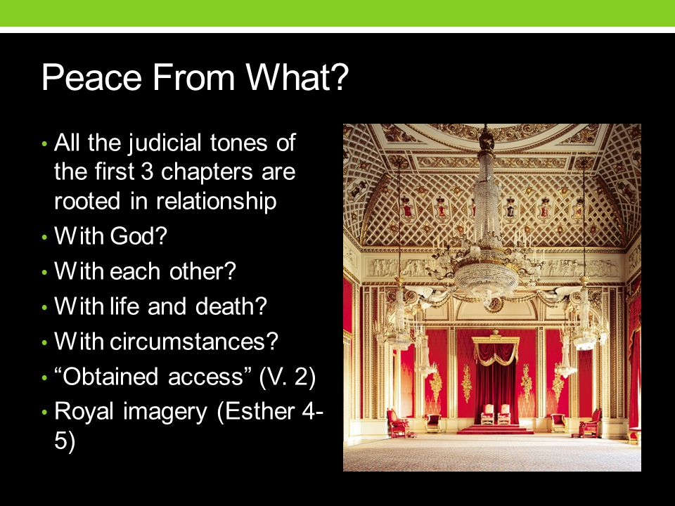 All the judicial tones of the first 3 chapters are rooted in relationship With God.