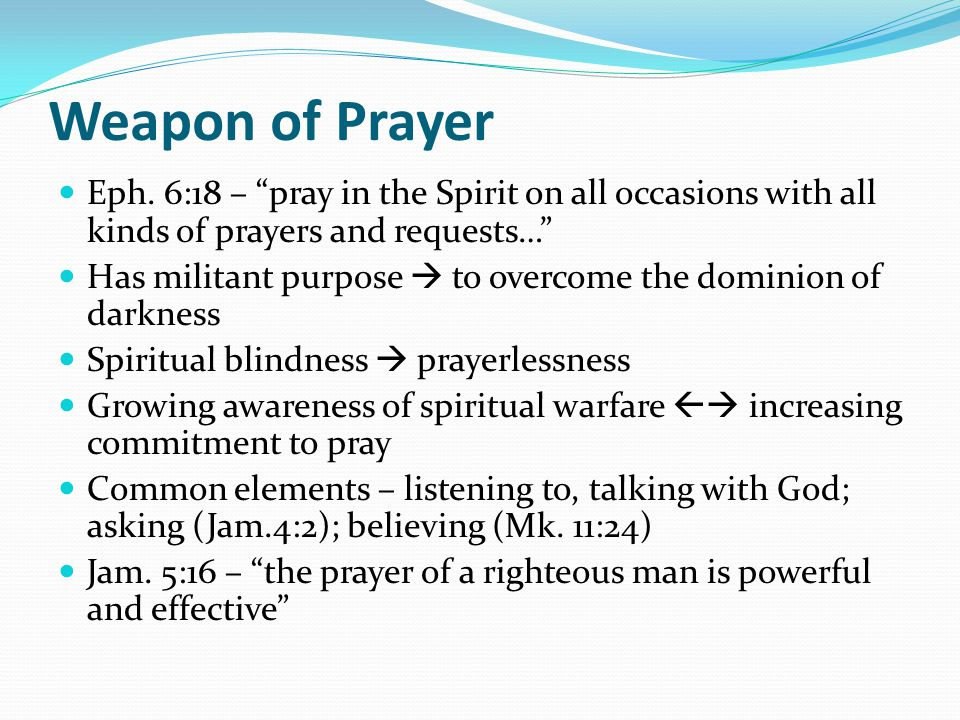 Weapon of Prayer Eph.