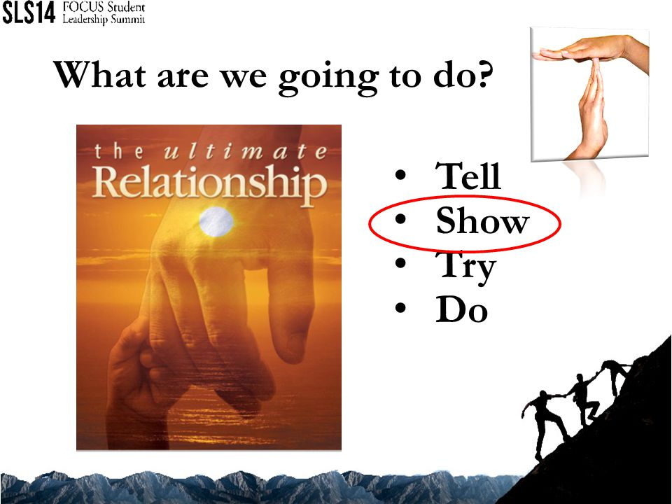 What are we going to do? Tell Show Try Do