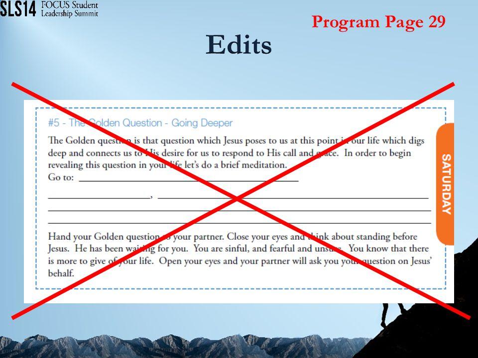 Program Page 29