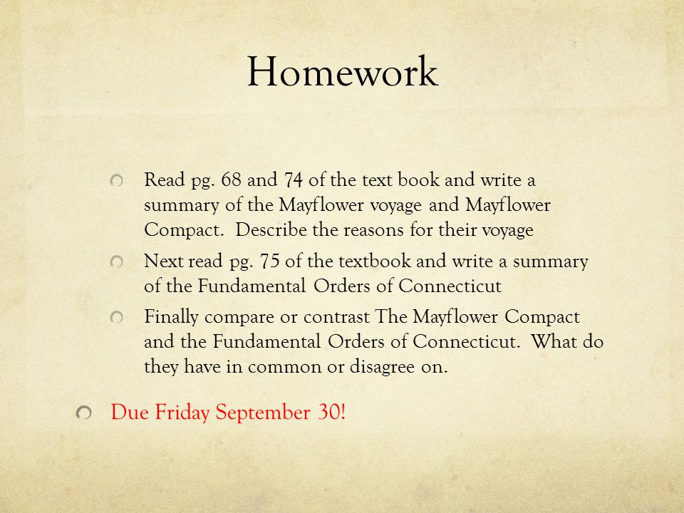 Homework Read pg.