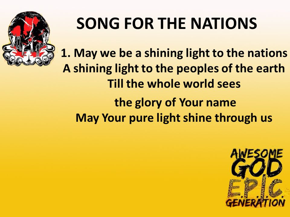 SONG FOR THE NATIONS 1.