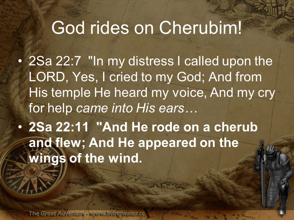 God rides on Cherubim.