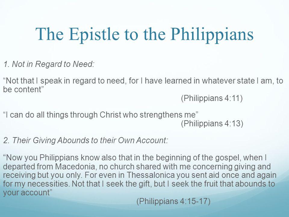 The Epistle to the Philippians 1.