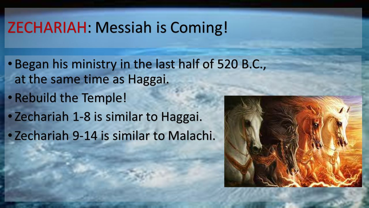 ZECHARIAH: Messiah is Coming.