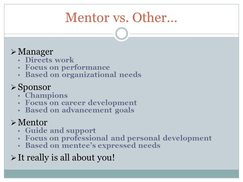 Mentor vs.