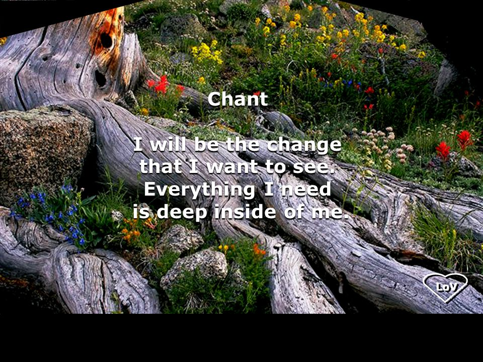 LoV Chant I will be the change that I want to see.