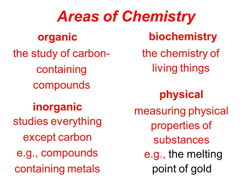 What is Chemistry? the study of matter and its changes