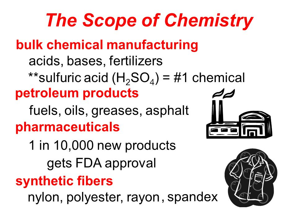 The skills you will develop by an earnest study of chemistry will help you in any career field.