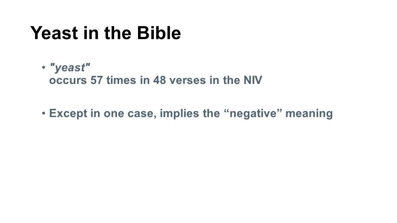 Yeast in the Bible