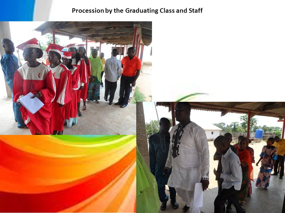 Procession by the Graduating Class and Staff
