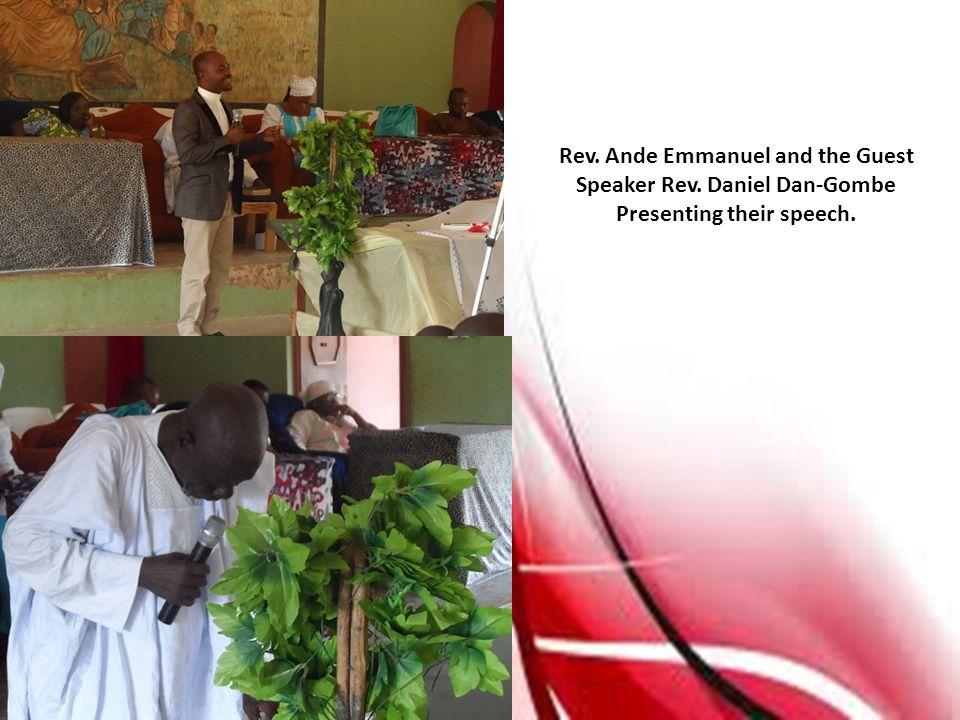 Rev. Ande Emmanuel and the Guest Speaker Rev. Daniel Dan-Gombe Presenting their speech.
