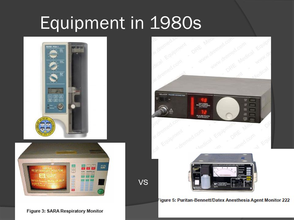 Equipment in 1980s VS
