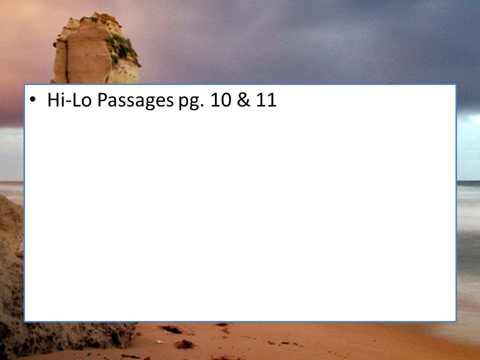 Hi-Lo Passages pg. 10 & 11