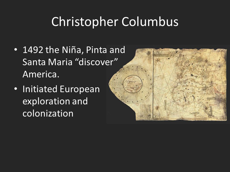 Christopher Columbus 1492 the Niña, Pinta and Santa Maria discover America.
