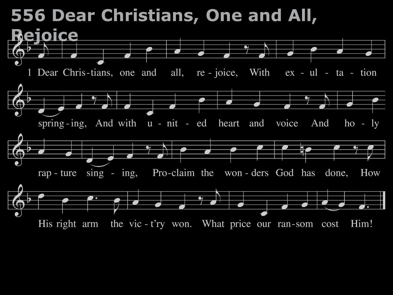 556 Dear Christians, One and All, Rejoice