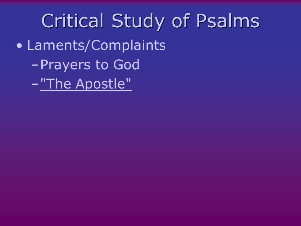 Brueggemann and Psalms Orientation Disorientation New Orientation Wisdom Torah Creation Lament Thanksgiving Enthronement