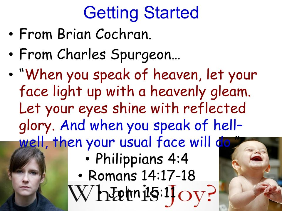 Getting Started From Brian Cochran.